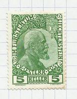 Liechtenstein N°1 Neuf Avec Charnière* Cote 40 Euros - Nuevos