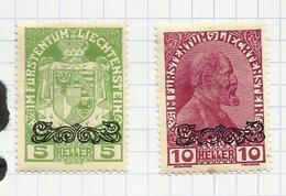 Liechtenstein N°11, 12 Neufs Avec Charnière* Cote 6 Euros - Nuevos