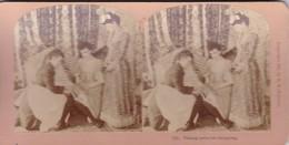 STEREO PHOTO  KILBURN YEAR 1893 / TAKING NOTES FOR SHOPPING - Stereoscoop