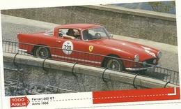 1000 MIGLIA  CARTONCIN  PUBBLICITARIO  FERRARI  250  1956 SUL  RETRO  CLASSIFICHE - Automobile - F1