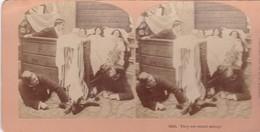 STEREO PHOTO  KILBURN YEAR 1899 / THEY ARE SOUND ASLEEP - Stereoscopic