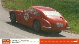1000 MIGLIA  CARTONCIN  PUBBLICITARIO  OSCA  MT4 1100  VIGNALE    1953   SUL  RETRO  CLASSIFICHE - Automobile - F1