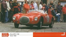 1000 MIGLIA  CARTONCIN  PUBBLICITARIO    OSCA  MT4 1100   1952    SUL  RETRO  CLASSIFICHE - Automobilismo - F1