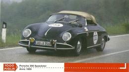 1000 MIGLIA  CARTONCIN  PUBBLICITARIO    PORSCHE 356  SPEEDISTER  1955      SUL  RETRO  CLASSIFICHE - Automobilismo - F1
