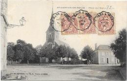SAINT GERVAIS EN BELIN : PLACE DE L'EGLISE - Other Municipalities