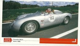 1000 MIGLIA  CARTONCIN  PUBBLICITARIO    PORSCHE   550  A  1956      SUL  RETRO  CLASSIFICHE - Automobilismo - F1