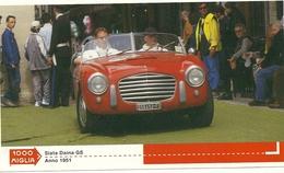 1000 MIGLIA  CARTONCINO    PUBBLICITARIO    STATA   DELTA GS  1951     SUL  RETRO  CLASSIFICHE - Automobilismo - F1
