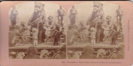 STEREO PHOTO  KILBURN YEAR 1870 / THE BAND / MUSIC HATH CHARMS TO SOOTHE THE SAVAGE BEAST / CIRQUE / CIRCUS - Stereoscoop