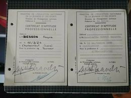 Lot 2 Certificat D'aptitude Professionnelle 1960 CAP Diplome Loire Tourneur - Diplômes & Bulletins Scolaires