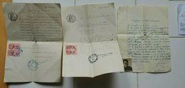 Lot Certificat Bonne Vie Et Moeurs - Nationalité - Etudes Primaires Vieux Papier - Diplômes & Bulletins Scolaires