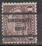 USA Precancel Vorausentwertung Preo, Locals Ohio, Cincinnati 571-236 - United States