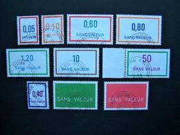 FICTIFS OBLITERES N°F231 à F240 (FICTIF F 231 à F 240) SERIE COMPLETE EMISSIONS DE 1982 à 1987 - Fictifs