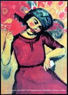 Femme Avec éventail Hermann Max Pechstein German Expressionist Painter Die Brücke Group Woman With Fan - Paintings