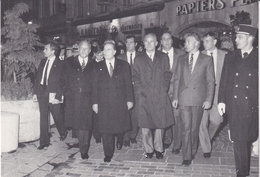 Bourg En Bresse 1983 Le Président F Mitterand Rue Victor Basch - Other