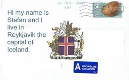 29F : Iceland Cake Pastry Food Stamps On Postcard - Briefe U. Dokumente