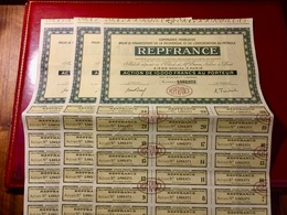 COMPAGNIE  REPFRANCE  ( Pétrole ) ---------Lot  De 3  Actions  De  10.000 Frs - Pétrole