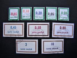 FICTIFS OBLITERES N°F171 à F180 (FICTIF F 171 à F 180) SERIE COMPLETE EMISSIONS DE 1966 à 1967 - Fictifs