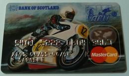 UK - Credit Card - Mastercard - Bank Of Scotland - Motorcycle Sport - 06.98 - Used - Cartes De Crédit (expiration Min. 10 Ans)