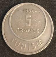 TUNISIE - TUNISIA - 5 FRANCS 1954 ( 1373 ) - KM 277 - Muhammad Al-Nasir - Protectorat Français - Tunisia