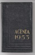 Agenda Carré In-8° Calendrier 1953 Utilisé Pour Dépenses - Calendars