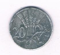 20 HALLER 1940  BOHMEN UND MAHREN  TSJECHOSLOWAKIJE /4061/ - Tschechoslowakei