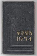 Agenda Carré In-8° Calendrier 1954 Utilisé Pour Dépenses Une Page Tarifs Postaux - Calendars