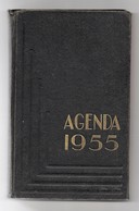 Agenda Carré In-8° Calendrier 1955 Utilisé Pour Dépenses Une Page Tarifs Postaux - Calendars