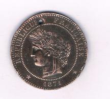 10 CENTIMES 1871 A FRANKRIJK /4065/ - D. 10 Centimes