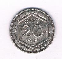20 CENTESIMI 1918 R ITALIE/ 4067// - 1861-1946 : Regno