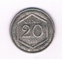 20 CENTESIMI 1918 R ITALIE/ 4067// - 1861-1946: Königreich