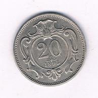 20 HELLER 1895  OOSTENRIJK /4068// - Austria