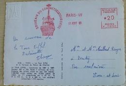 2 Cpm Souvenir De La Tour Eiffel - EMA ( Maquina De Huellas A Franquear)