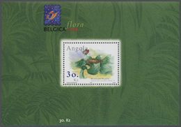 Angola: 2001, BELGICA (PLANTS), Souvenir Sheet, Investment Lot Of 500 Copies Mint Never Hinged (Mi.n - Angola