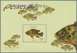 Angola: 2001, FRESH-WATER FISH, Investment Lot Of 1000 Souvenir Sheets MNH (Mi.no. Bl. 96 Cat. Val. - Angola