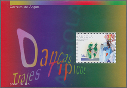 Angola: 2001, CARNIVAL DANCE, Investment Lot Of 1000 Souvenir Sheets MNH (Mi.no. Bl. 97; Cat. Val. 5 - Angola