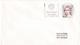 Germany 1988 Cover; Sport Ski Jumping / Flying; WM Oberstdorf; World Championship; Skiflug WM; Slogan Cancellation - Wintersport (Sonstige)