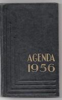Agenda Carré In-8° Calendrier 1956 Utilisé Pour Dépenses Une Page Tarifs Postaux - Calendars