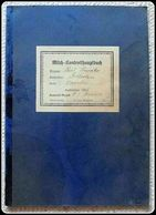 Socialist Germany Milk Control Ledger Silesia Oppeln / Zuzella Kr.Krappitz 1939 Milch- Kontrollhauptbuch Krappitz - Documents Historiques