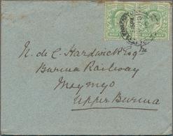 Birma / Burma / Myanmar: 1900-1910 Ca.: Collection Of 115 Covers Plus Contents Sent From Great Brita - Myanmar (Burma 1948-...)