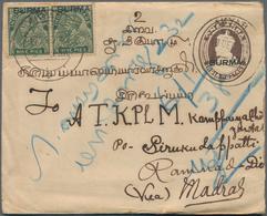 Birma / Burma / Myanmar: 1938-40's: Group Of 10 Postal Stationery Envelopes Of Various Sizes Includi - Myanmar (Burma 1948-...)