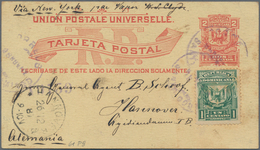 Dominikanische Republik: 1890/1950 (ca.), Group Of 8 Stationeries Inc. U2a, U2c Mint And P9 Used (2, - Dominican Republic