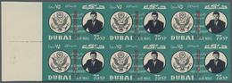 Dubai: 1963/1964 12 Items, Profoundly Described And Individually Priced, Including Souvenir Sheets, - Dubai