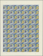 Dubai: 1964, SPACE RESEARCH Investment Lot Of 28 Complete Panes With 50 Stamps Each Of The 20np. On - Dubai