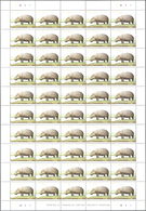 Guinea-Bissau: 2001, HIPPOPOTAMUS, Investment Lot Of 5000 Copies In Sheets Of 50 Stamps Each MNH (Mi - Guinée-Bissau
