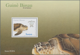 Guinea-Bissau: 2001, SEA TURTLES, Souvenir Sheet, Investment Lot Of 1000 Copies Mint Never Hinged (M - Guinée-Bissau