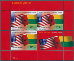 Guinea-Bissau: 2002, UNITED WE STAND/ IN COMMEMORATION OF 9/11) Miniature Sheet, Investment Lot Of 1 - Guinée-Bissau