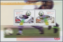 Guinea-Bissau: 2002, WORLD CUP, Complete Set Of Two In Sheets, In An Investment Lot Of 2500 Sets And - Guinée-Bissau