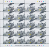 Guinea-Bissau: 2002, AVIATION, Complete Set Of Four In Miniature Sheets With 20 Stamps Each, In An I - Guinée-Bissau