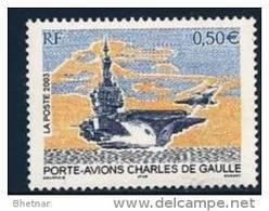 """FR YT 3557 """" Porte-avions Charles De Gaulle """" 2003 Neuf** - France"""