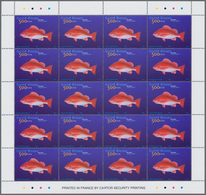 Guinea-Bissau: 2002, FISHES, Complete Set Of Three In Sheets, In An Investment Lot Of 2000 Sets Mint - Guinée-Bissau